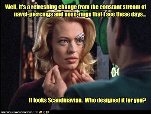 seven of nine,borg,design,Jewelry,voyager,Star Trek,jeri ryan,piercings