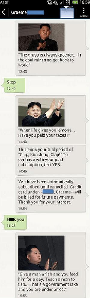 kim jong-un,texts,phone