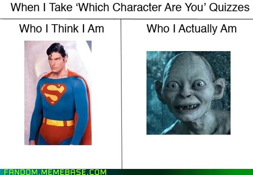gollum quizzes superman