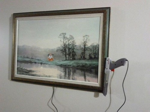 zapper NES duck hunt painting - 6867427584
