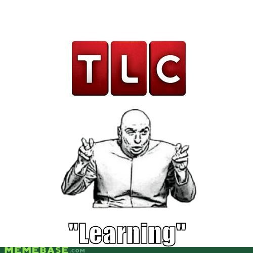 the learning channel,dr evil air quotes,tlc