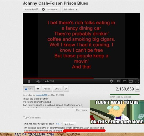 taylor swift youtube johnny cash idiots - 6867659520