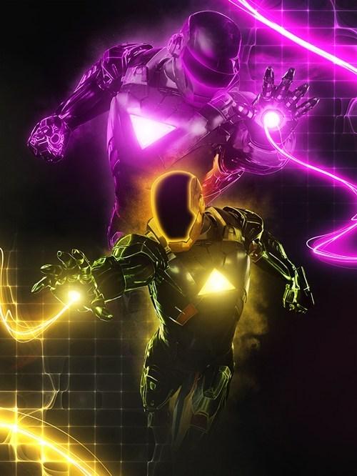 crossover iron man daft punk superheroes - 6867778816