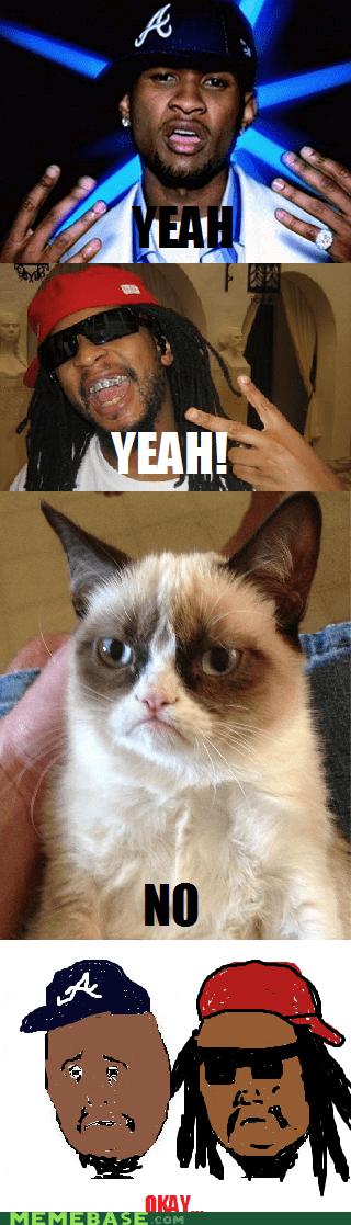 Music,lil jon,yeah,Grumpy Cat,usher