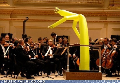 conductor orchestra wacky waving inflatable arm flailing tube man