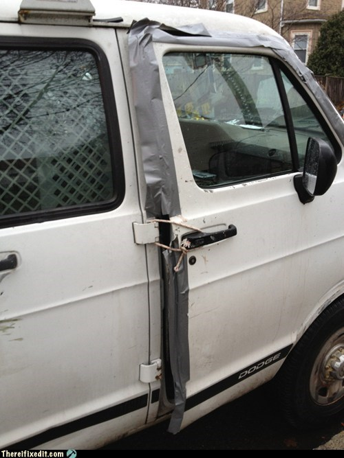 door fix,car door,duct tape