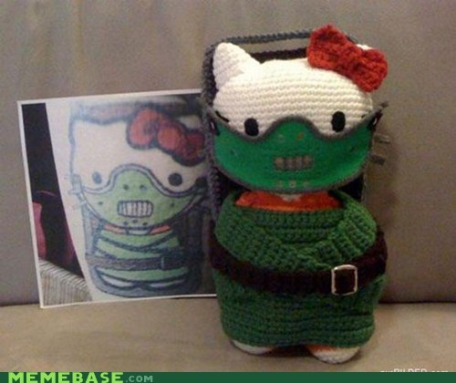 Fan Art hello kitty hannibal lector knit - 6869794816