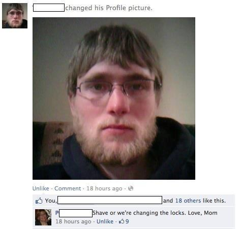 motherson,beard,facebook,Parenting FAILS