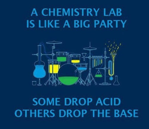 base,acid,puns,Party,science,Chemistry,School of FAIL
