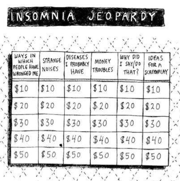 Jeopardy game show insomnia sleep regret money