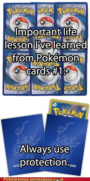 life lesson TCG sleeves pokemon cards protection