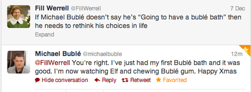 twitter michael buble Will Ferrell failbook g rated Hall of Fame best of week