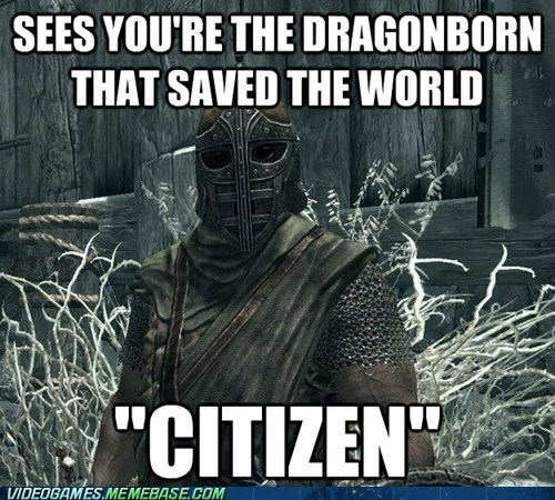 citizen guards dragonborn Skyrim