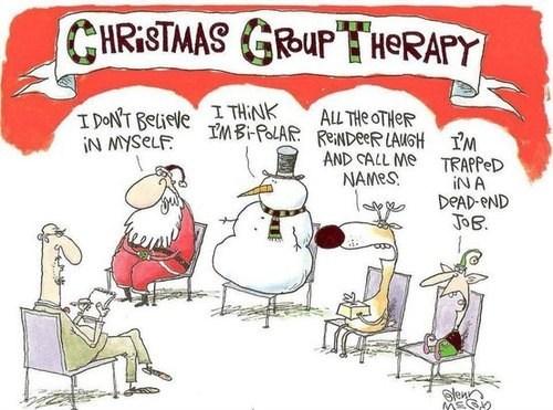 christmas elf reindeer comic santa funny holidays snowman - 6871087616