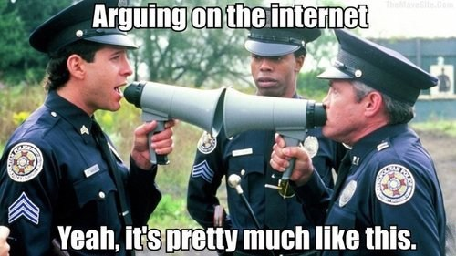 steve guttenberg pointless arguing internet gw bailey yelling police academy megaphone Michael Winslow - 6871306496