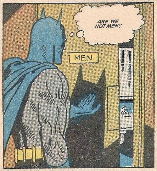 men,off the page,bathroom,batman