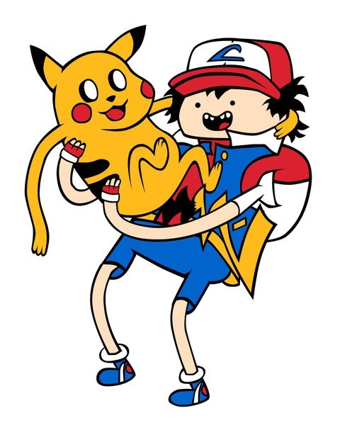 ash,crossover,pikachu,adventure time