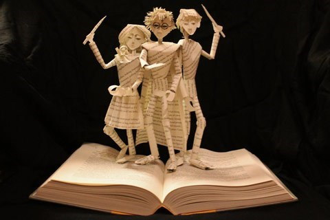 Harry Potter art pop-up books nerdgasm book - 6871584256