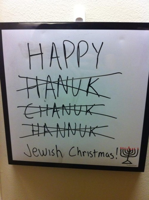 christmas sign hanukkah FAIL