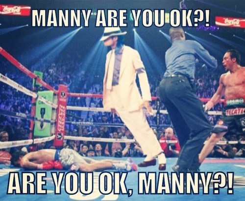 knockout are you ok michael jackson Manny Pacquiáo boxing smooth criminal