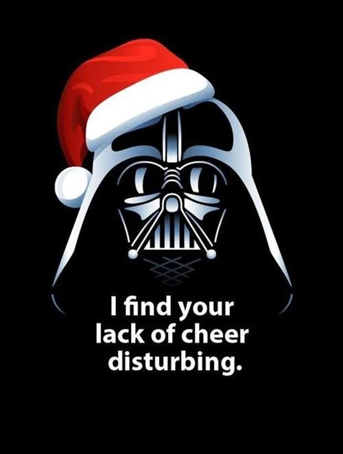 christmas star wars funny darth vader holidays - 6871738624