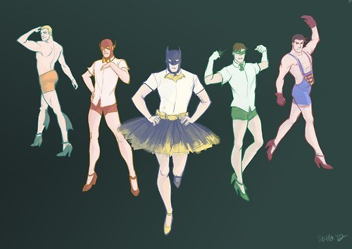 justice leage,crossdressing,aquaman,superheroes,batman,Green lantern,the flash,superman