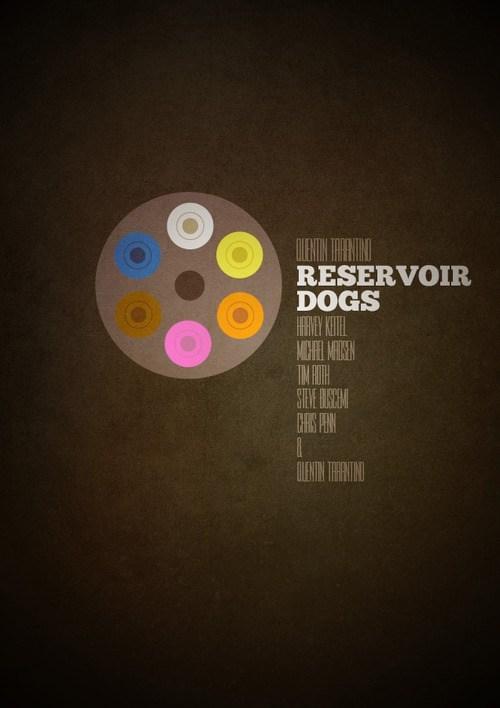 minimalist Reservoir Dogs poster Movie quentin tarantino - 6871873024