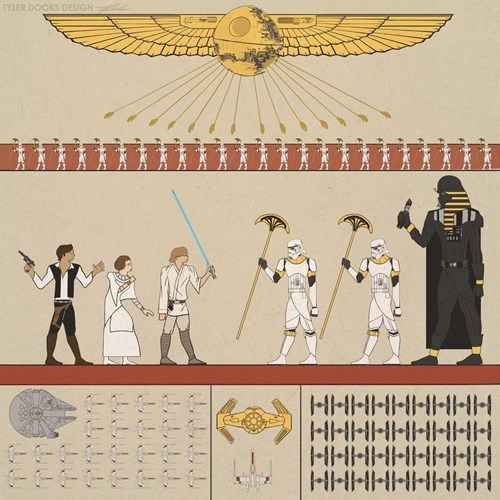 art star wars Movie hieroglyphs