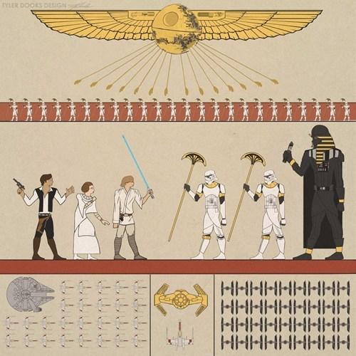 art star wars Movie hieroglyphs - 6871918592