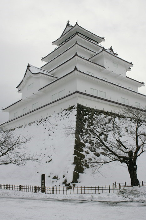 castle,snow,Japan,winter