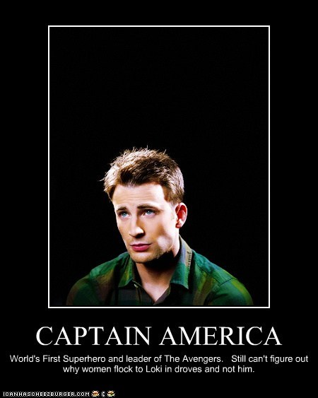 loki,The Avengers,steve rogers,captain america,chris evans,women