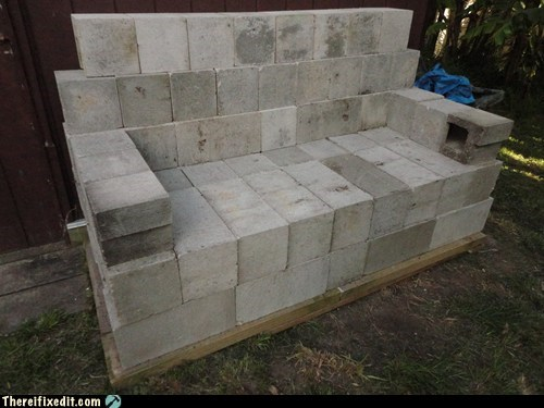 comfortable concrete,couch,concrete