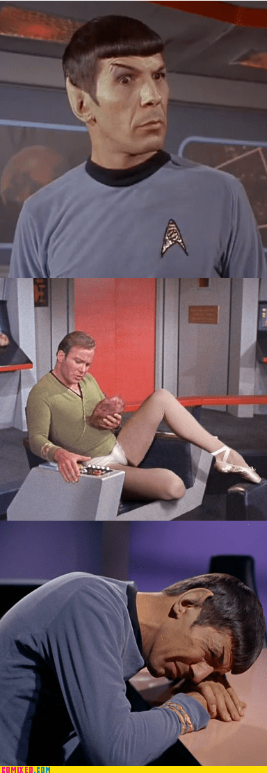 kirk alone time TV Vulcan Star Trek - 6874127360