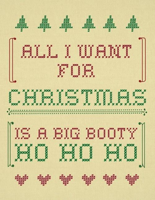 Knitta Please christmas big booty ho ho ho - 6874428672