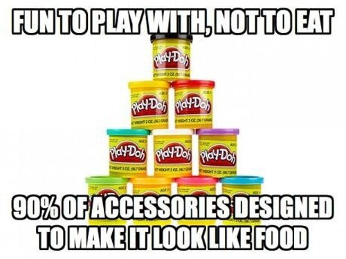 play doh food