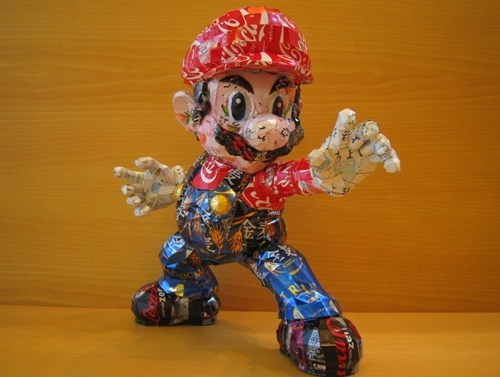 Can Art art video games mario nintendo Tokyo Otaku Mode