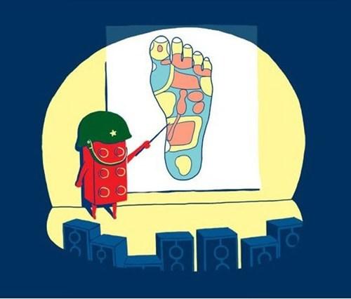 lego foot - 6874510080
