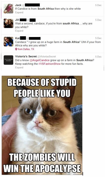 South Africa candice swanepoel zombie apocalypse Grumpy Cat