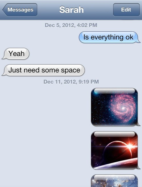 iPhones,just what i needed,literal,space