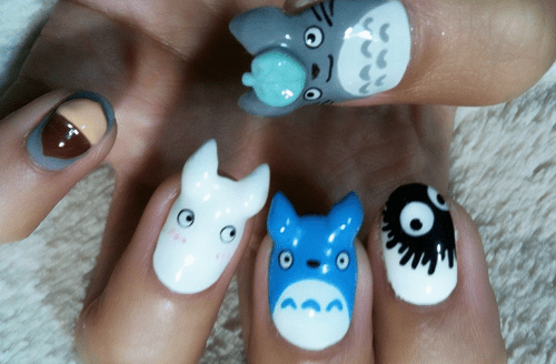 My Nail Art Totoro