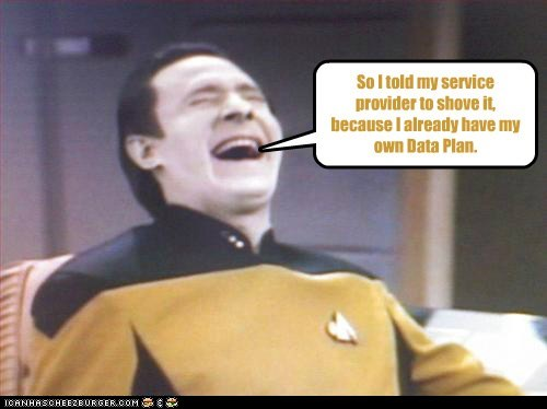 brent spiner pun data Star Trek laughing shove it
