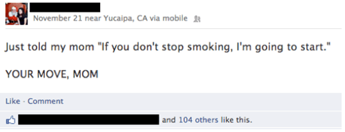 ultimatum,facebook,smoking