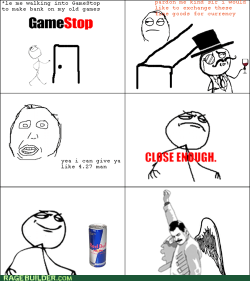 gamestop red bull herp derp Close Enough