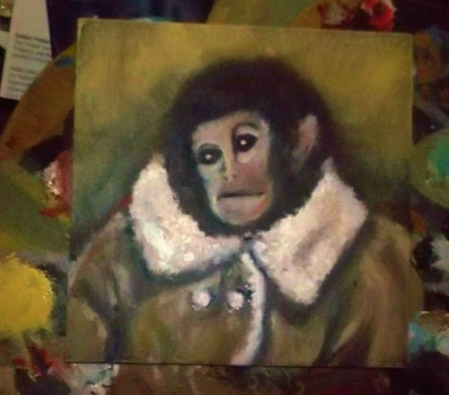 ikea monkey,ecco homo,potato jesus,painting