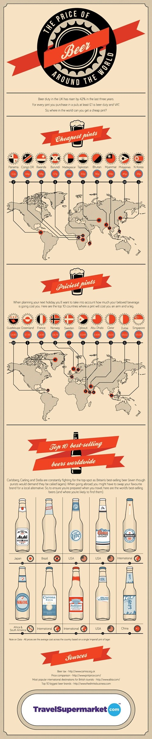 beer the Roosevelts around the world infographics