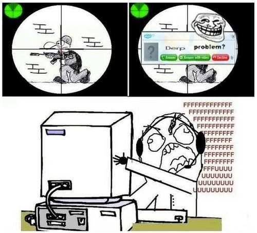 leave me alone,shooter,sykpe,Rage Comics