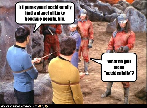 Captain Kirk Spock bondage Leonard Nimoy William Shatner Shatnerday accidentally planet - 6875227904