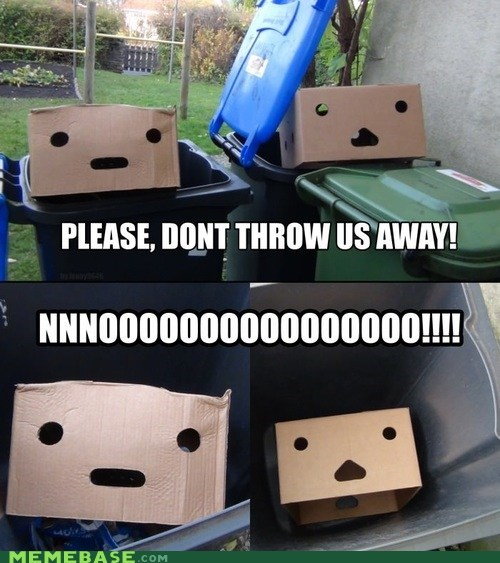 trash,boxes,faces