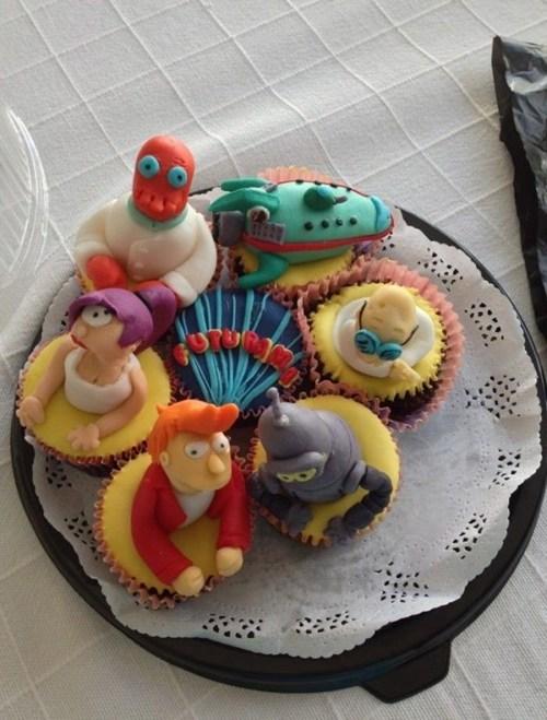 cakes,nerdgasm,cupcakes,dessert,food,futurama