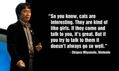 shigeru miyamoto Cats women nintendo